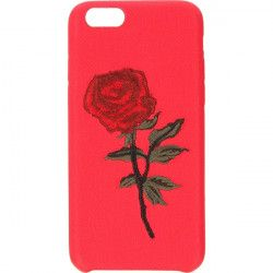 EMBROIDERY ROSE PHONE CASE IPHONE 6 4.7 '' A1586 / A1688 RED