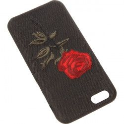 EMBROIDERY ROSE PHONE CASE IPHONE 6 4.7 '' A1586 / A1688 BLACK