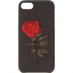 EMBROIDERY ROSE PHONE CASE IPHONE 7 4.7 '' A1586 / A1688 BLACK