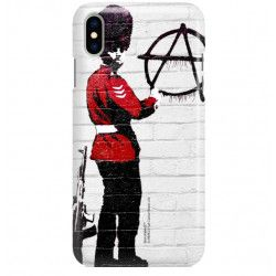 PHONE CASE IPHONE XS MAX A1921 BANKSY PATTERN BK134