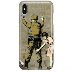 PHONE CASE IPHONE XS MAX A1921 BANKSY PATTERN BK135