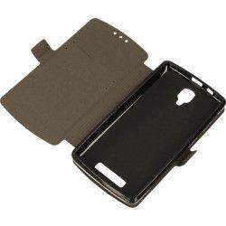 BOOK POCKET LENOVO A A1000 BLACK PHONE CASE