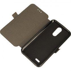 BOOK POCKET PHONE CASE LG K10 2017 M250n K10 2017 Dual BLACK