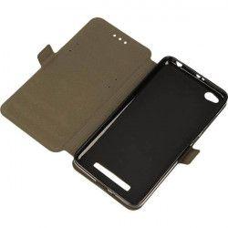BOOK POCKET PHONE CASE XIAOMI REDMI 4A BLACK