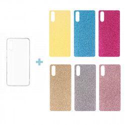 CLEAR 0.3mm PHONE CASE HTC U11 + 6x BLACK INSERT