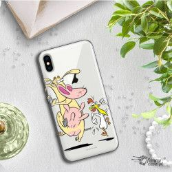 IPHONE XS MAX A1921 CARTOON NETWORK KK176 CLASSIC TUBE AND CHICKEN CASE